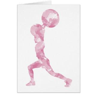 Watercolor Clean & Jerk in Pink Greeting Card