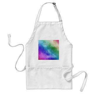 Watercolor Clouds in Rainbow Hues Aprons