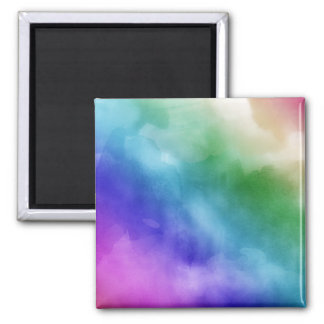 Watercolor Clouds in Rainbow Hues Fridge Magnets