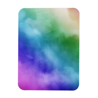 Watercolor Clouds in Rainbow Hues Magnets
