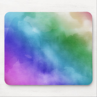 Watercolor Clouds in Rainbow Hues Mousepad