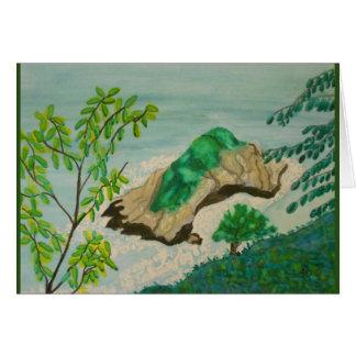Watercolor Coastal Island Card