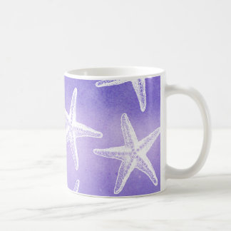 Watercolor Coffee Mug - Starfish Purple