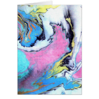 Watercolor colorful abstract art illustration card