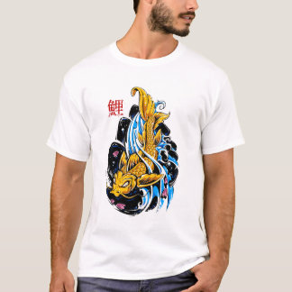 Watercolor colorful golden fish t-shirts