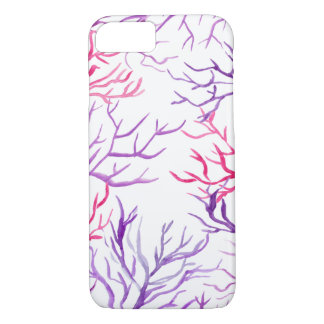 Watercolor Coral Reef Branches Purple Pink iPhone 8/7 Case