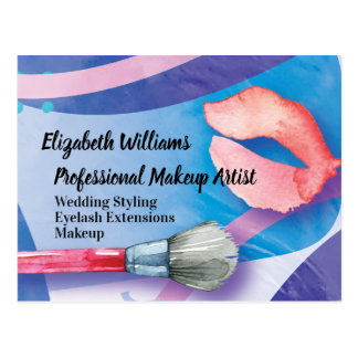 Watercolor Cosmetics Makeup Art Professional Postcard