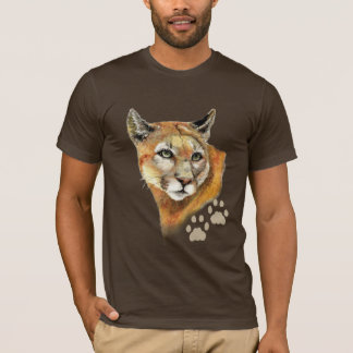 Watercolor Cougar  Puma, Mountain Lion, Animal T-Shirt