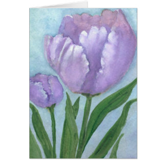 Watercolor Crocus Card