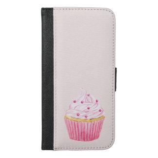 Watercolor Cupcake Phone Case, Wallet Case