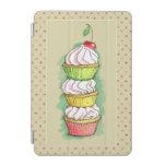 Watercolor cupcakes. Kitchen illustration. iPad Mini Cover