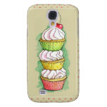 Watercolor cupcakes. Kitchen illustration. Samsung Galaxy S4 Cases