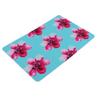 watercolor customizable roses bathroom mat