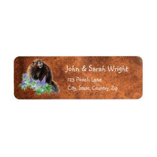 Watercolor Cute Marmot Animal Address Return Address Label