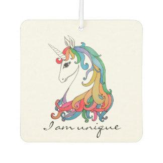 Watercolor cute rainbow unicorn car air freshener