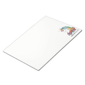 Watercolor cute rainbow unicorn notepad