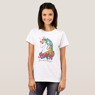 Watercolor cute rainbow unicorn T-Shirt