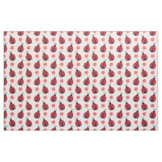 watercolor cute red ladybugs polkadots fabric