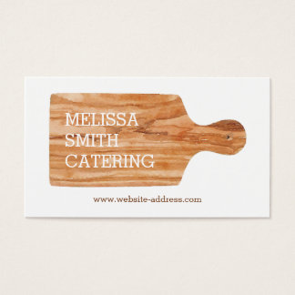 Watercolor Cutting Board Catering Chef Logo Business Card