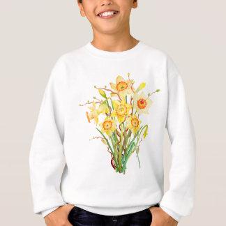 Watercolor daffodils bouquet sweatshirt