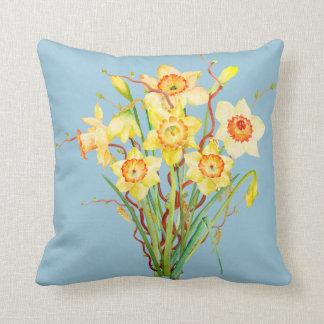 Watercolor Daffodils Pillow