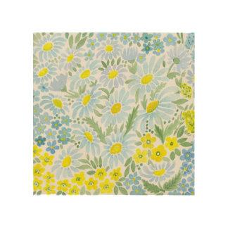 Watercolor daisies wood wall decor