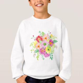 Watercolor daisy bouquet sweatshirt
