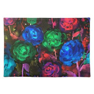 Watercolor dark rose pattern place mat