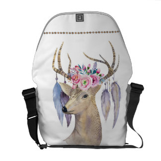 Watercolor Deer - Boho Chic Commuter Bag