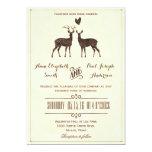 Watercolor Deers wedding invitation