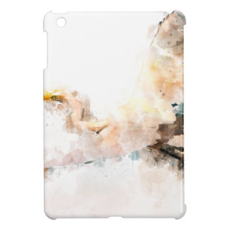 Watercolor design, crane bird flying iPad mini case