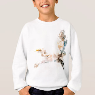 Watercolor design, crane bird flying sweatshirt