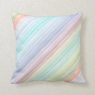 Watercolor Diagonal Stripes Throw Cushions
