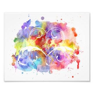 Watercolor Digital Painting | Hearts Cutouts Art Photo