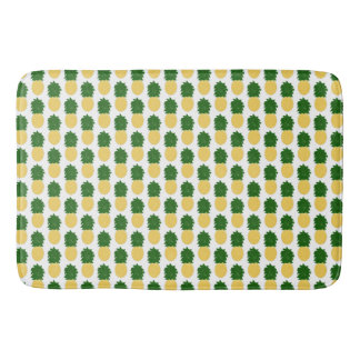 Watercolor Digital Pineapple Design Bath Mats