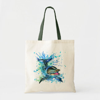 Watercolor Dolphin Budget Tote Bag