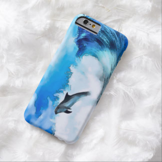 Watercolor Dolphin Wave iPhone 6 Case Barely There iPhone 6 Case