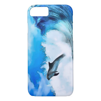 Watercolor Dolphin Wave iPhone 7 Case
