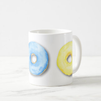 Watercolor donuts mug