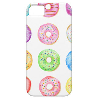 Watercolor donuts pattern case for the iPhone 5