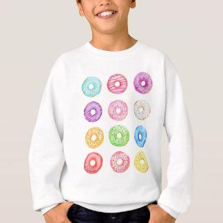 Watercolor donuts pattern sweatshirt