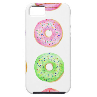 Watercolor donuts pattern tough iPhone 5 case