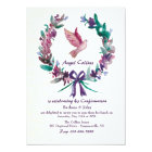 Watercolor Dove Religious Invitation
