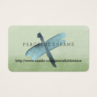 Watercolor Dragonfly Business Card