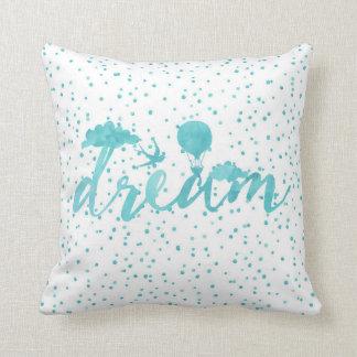 Watercolor dream pillow large