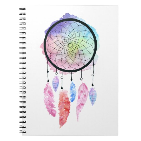 Watercolor Dreamcatcher Notebook