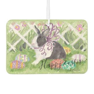 Watercolor Dutch Rabbit Easter Eggs Car Air Freshener