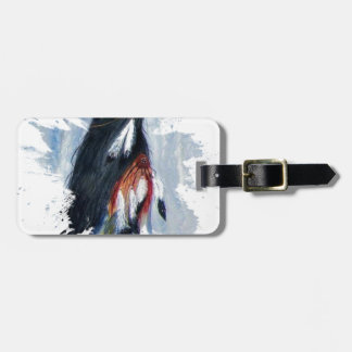 Watercolor Eagle Feathers Luggage Tag