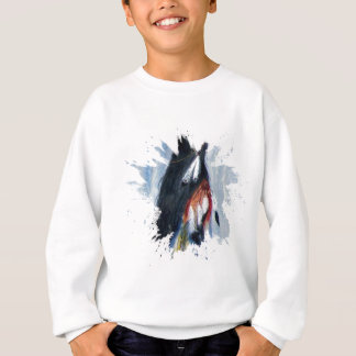 Watercolor Eagle Feathers Sweatshirt