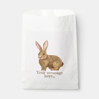 Watercolor Easter Bunny Rabbit. Favour Bag